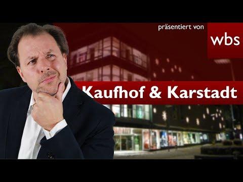 Kaufhof und Karstadt fusionieren – was tun bei Kündigungen? | Rechtsanwalt Christian Solmecke