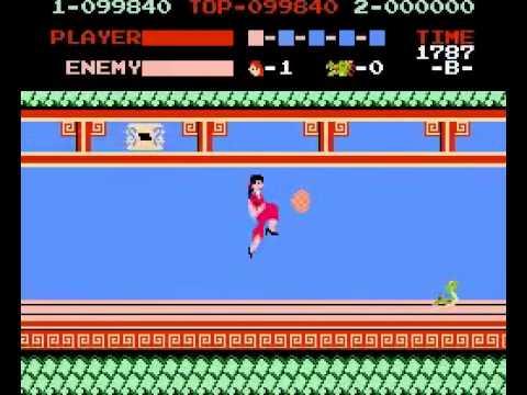 Silvia Saves Thomas Game B Nes Famicom Kung Fu Master