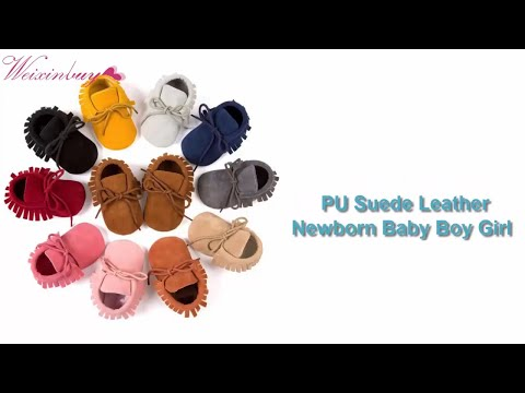 PU Suede Leather Newborn Baby Boy Girl Baby Moccasins Soft M