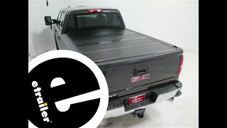 Installation of the BAKFlip FiberMax Hard Tonneau Cover on a 2016 GMC Sierra 2500 - etrailer.com