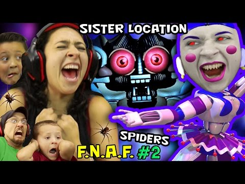 Thumbnail: KILLER BALLERINA Scares MOM! FNAF SISTER LOCATION #2 w/ REAL SPIDERS (FGTEEV SCARY Ballora Gameplay)