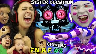 KILLER BALLERINA Scares MOM! FNAF SISTER LOCATION #2 w/ REAL SPIDERS (FGTEEV SCARY Ballora Gameplay)