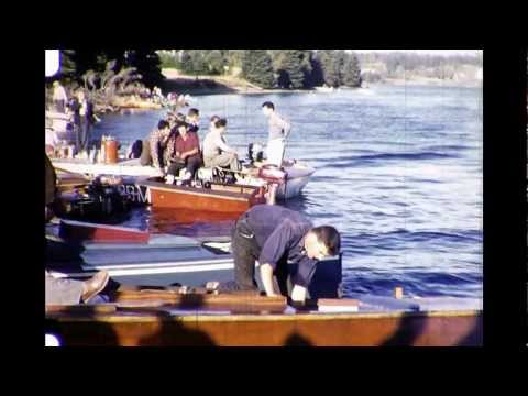 Part 1 of 3: Vintage 1950s Nova Scotia home movies of boat races on the Mira River
