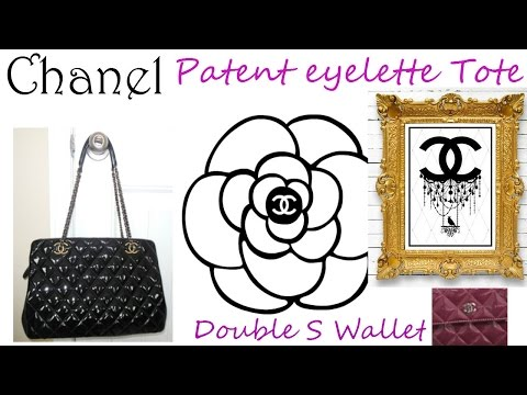 Chanel Patent leather eyelette tote & Double S Wallet Unboxing & review (Part 2)