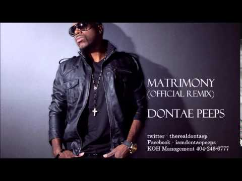 WALE FT USHER MATRIMONY REMIX BY DONTAE PEEPS (official remix)
