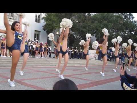 Cal Band Sproul Hall Rally vs. Oregon State 2013 Berkeley California (Britney Spears Show)