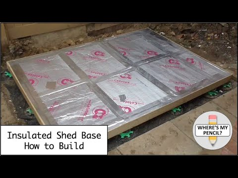 Insulated Shed Base How To Build