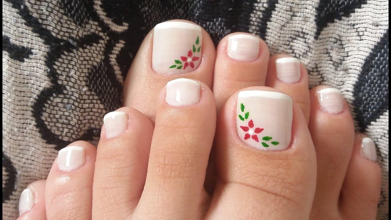 unhas decoradas Para pés florzinhas