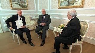 Лукашенко на полях конгресса русской прессы встретился с Игнатенко и Гусманом