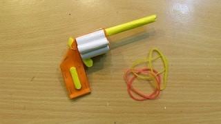 Make A Mini Pistol That Shoots - Easy Paper Pocket Gun Tutorials