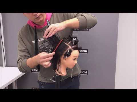 Модная текстурная стрижка на средние волосы. Павел Охапкин. Пошаговое видео.