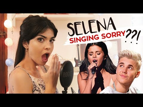 "SINGING IMPRESSIONS!! Selena Gomez singing ""Sorry"" By Justin Bieber!"