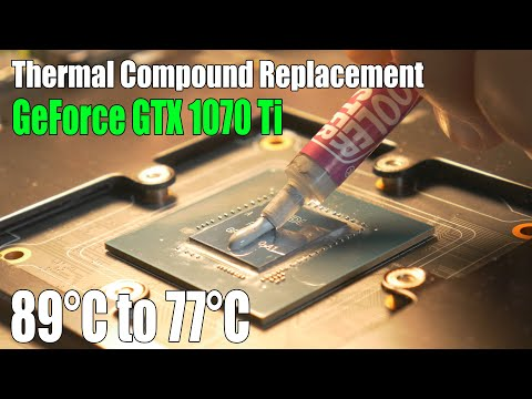 Graphics Card Thermal Compound Replacement & Results   EVGA GTX 1070 Ti