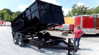Dump Trailer 7'x14' Hydraulic Roofing Trailer 4' Sides 7000lbs Axles