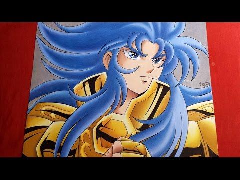 Speed Drawing Gemini Saga - Saint Seiya