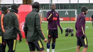 Man Utd Players Train Ahead Of Champions League Clash With RB Leipzig
