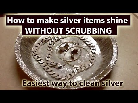 Easiest way to clean Silver WITHOUT SCRUBBING |  Polish Silver Pooja items at Home