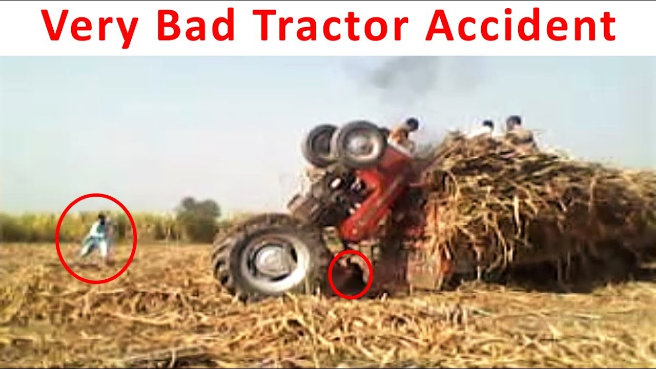 Farm Tractor Pto Accidents : Accident tractor flipped over bad