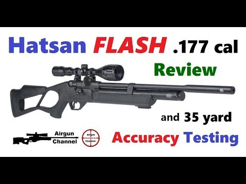 Hatsan FLASH  177 Review + (Accuracy Testing @ 35 Yards) PCP Air Rifle