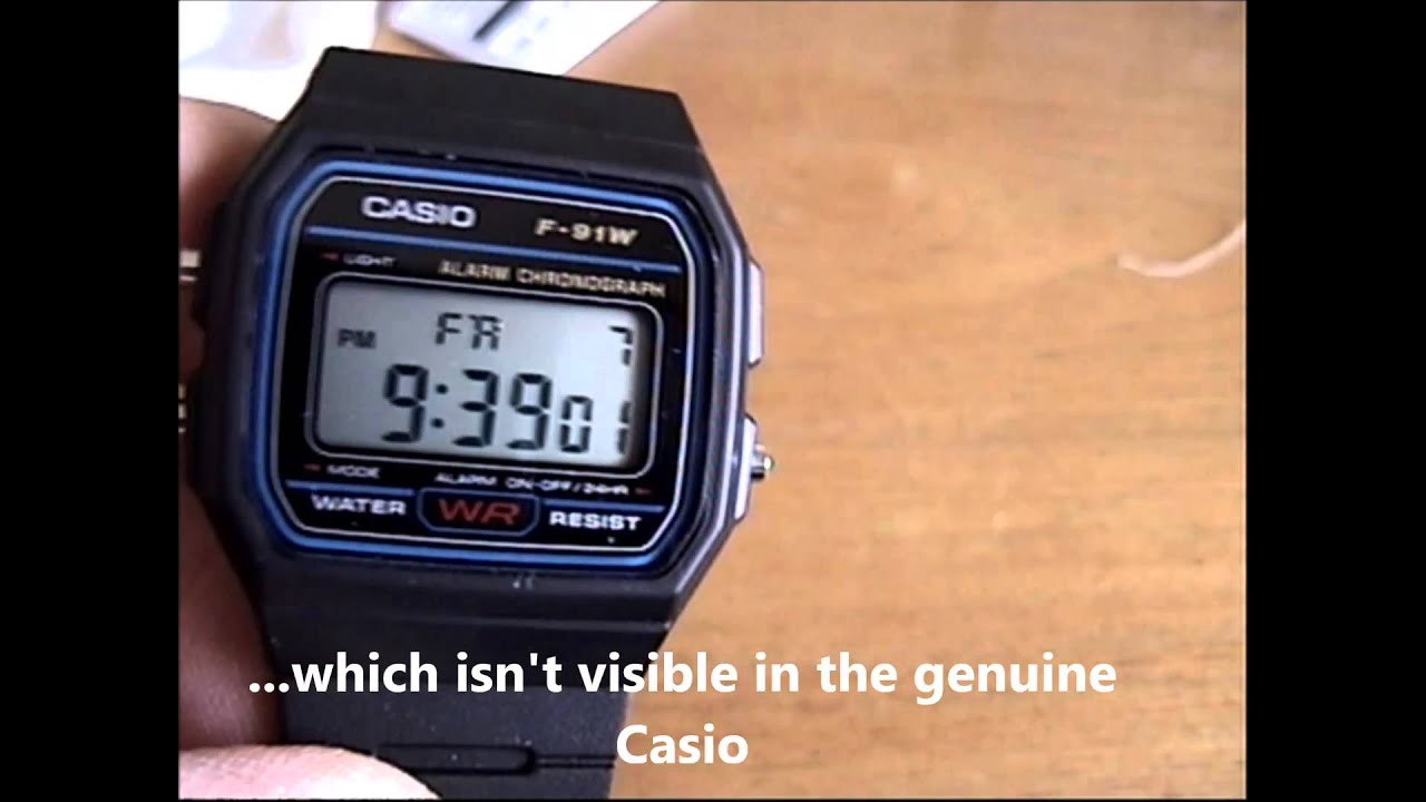 d3b6e1e95153 Fake Casio F 91W - YouTube