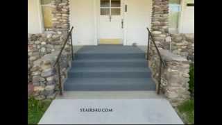 Can You Carpet Exterior Concrete Stairs, How To Glue Outdoor Carpet Concrete Steps