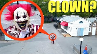 when you see this Clown inside of Abandoned Clown Ghost Town RUN AWAY FAST! (It's CRAZY)