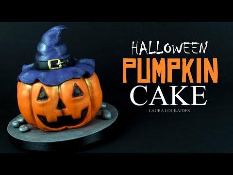 How to Make a Halloween Pumpkin Cake - Laura Loukaides