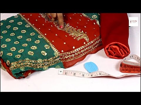 Convert old Saree into Designer Lehenga, How to make lehenga from old Lehenga Cutting and Stitching