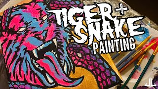 Tiger and Snake Painting