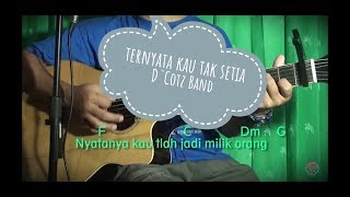 Kunci Chord Gitar Ternyata Kau Tak Setia - D 39 cotz Band Bikin Baper.mp3