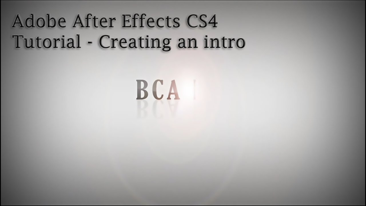 Adobe after effects tutorial creating an intro alongwith for After effects youtube intro