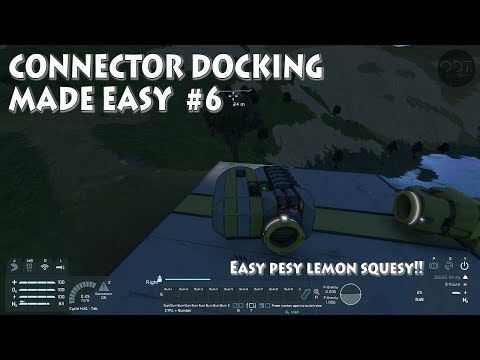 [6] SPACE ENGINEERS Ep.6: Connector docking made easy (Easy pesy lemon squesy!!)