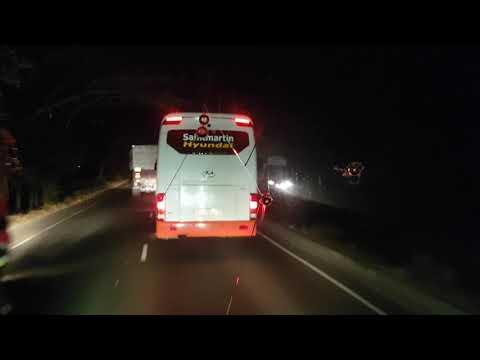 Saintmartin Paribahan Ashok Leland 12m FE is chasing Saintmartin Hyundai...