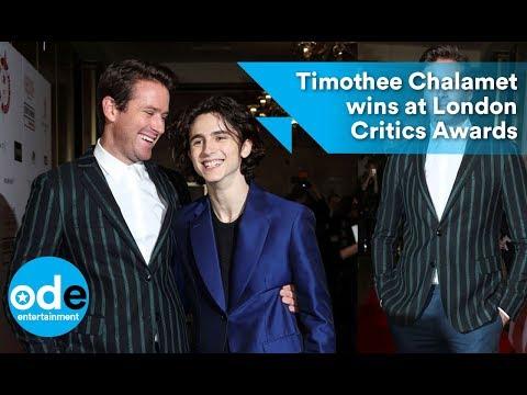 Timothee Chalamet wins at London Critics Awards