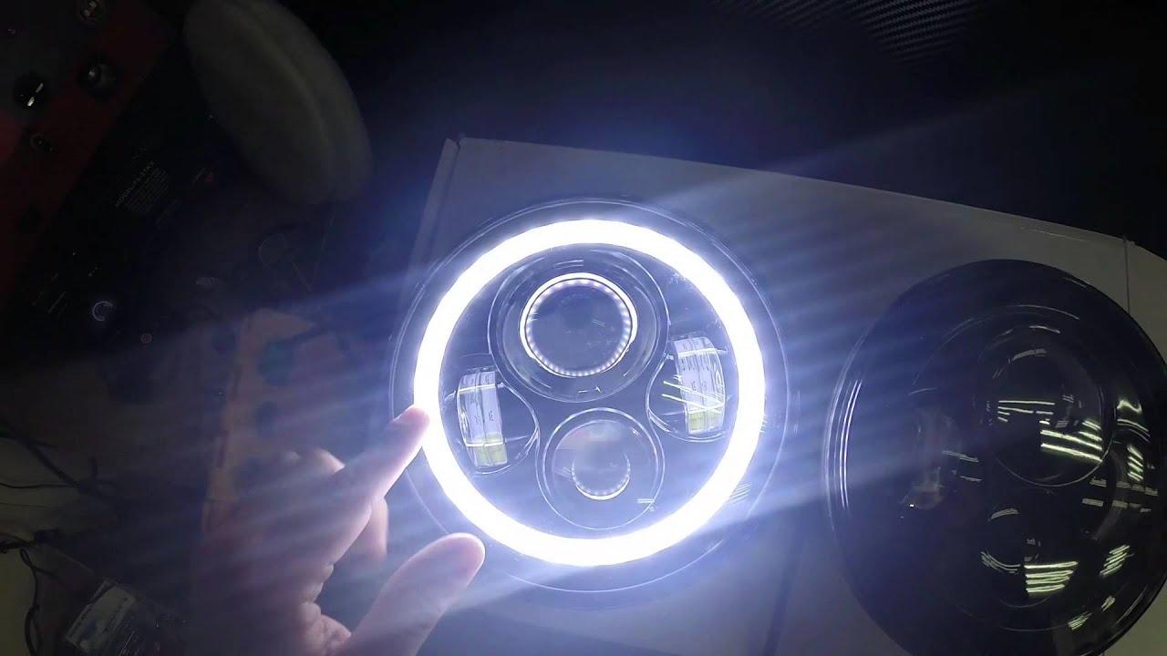 7 Inch Round Led Headlight Sealed Beam Youtube