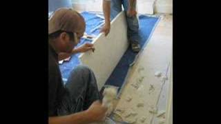 Limestone Fireplace Mantel Installation