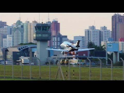 PHENOM 100 ATR 72 600 AIRBUS A 320  CESSNA 172 OPERAÇÕES AEROPORTO DE LONDRINA
