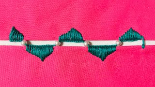 Hand Embroidery: Blanket Stitch Joining Stitch