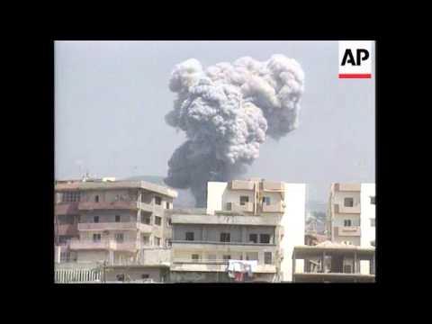 Lebanon - Israeli Jets Blast Guerrilla Bases