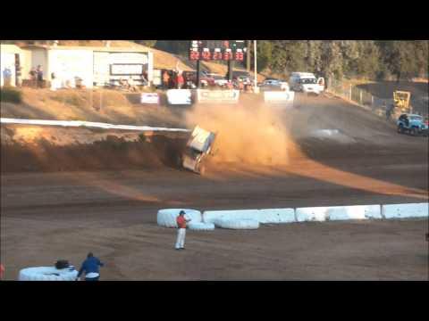 Charlie Cagle crash at Placerville Speedway