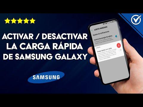 Cómo Desactivar o Activar la Carga Rápida de mi Móvil Samsung Galaxy Fácilmente