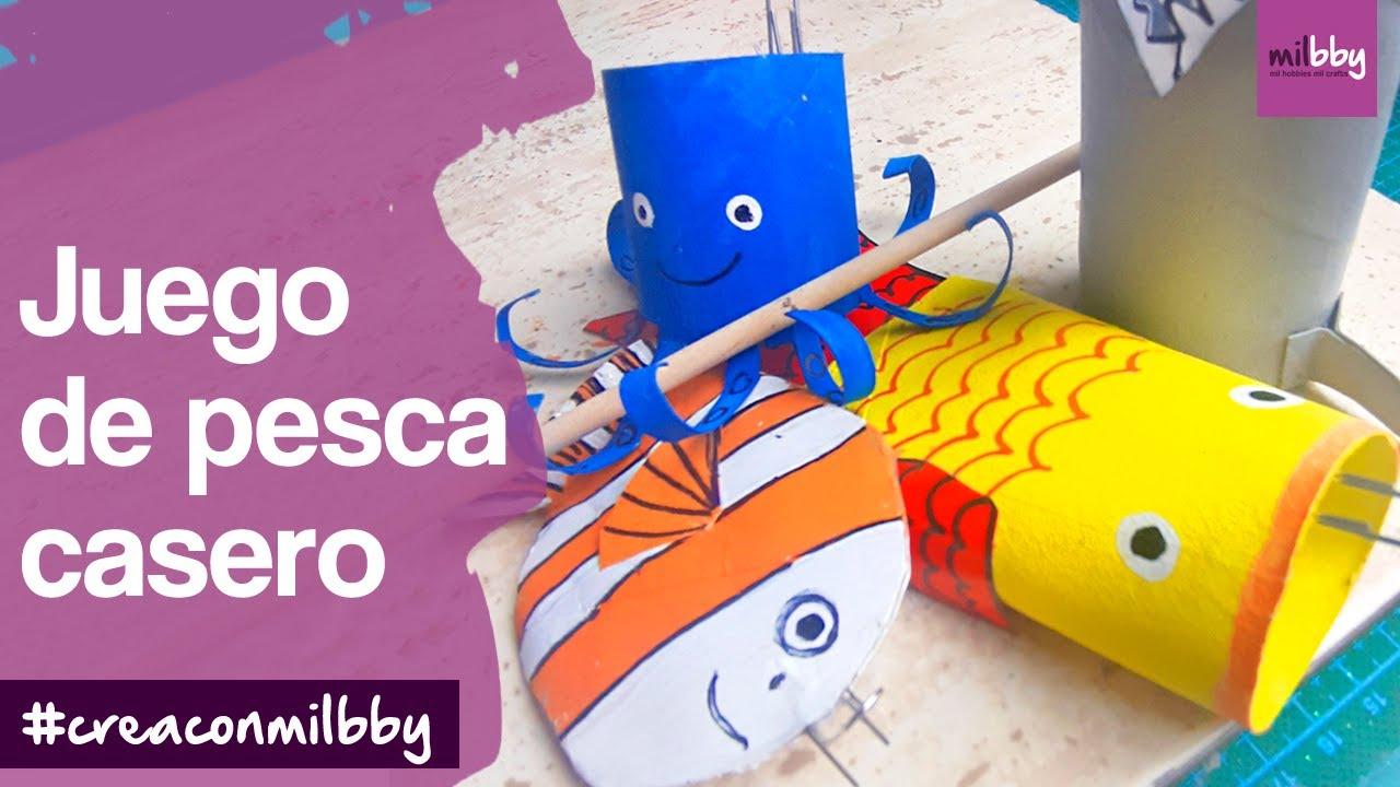 Juego De Pesca Casero Diy Manualidades Con Rollos De Papel Higiénico Fáciles Para Niños Youtube