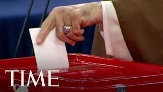 Iran's Supreme Leader Ayatollah Ali Khamenei Casts Vote In Iranian Presidential Election   TIME