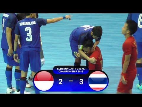 Highlights Indonesia Vs Thailand (2-3) Semifinal AFF Futsal Championship 2018