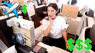 ASÍ es VIAJAR en PRIMERA CLASE (PROBAMOS un VUELO de 5.000€!!)✈️💶 | Familia Coquetes