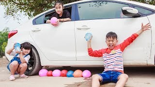 Kids go to School Learn | Chuns Have fun with water balloons with friends