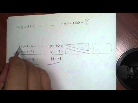 1 Den 100 E Kadar Sayıların Toplamı Nasıl Bulunur Ve Genel Formul Nedir?