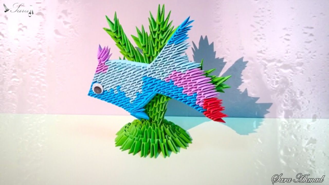 How to make 3d origami fish youtube how to make 3d origami fish jeuxipadfo Images