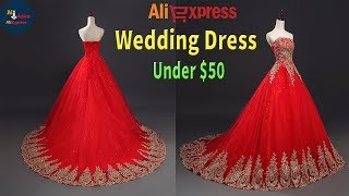 Buy Now Red wedding Dress Under $50 - Review On AliExpress