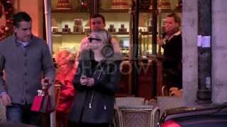 EXCLUSIVE - Reese Witherspoon and her husband Jim Toth enjoying pastries at Carette in Paris